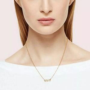 Kate Spade Mrs 12k Gold Plate Pendant Necklace $78